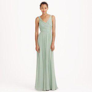 JCrew $365 Silk Chiffon Heidi Gown Dusty Shale